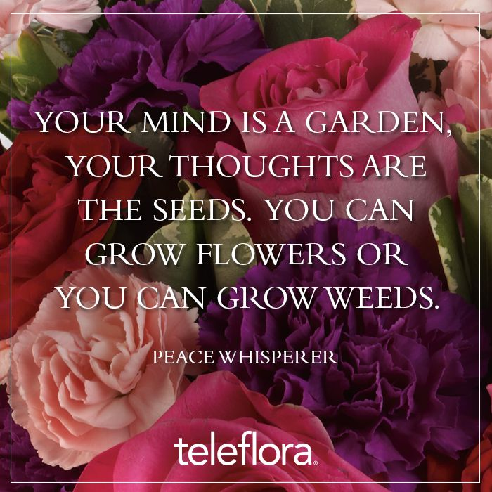 Wedding Flowers Quote: Flower Quote 13 - Your Mind Is A Garden