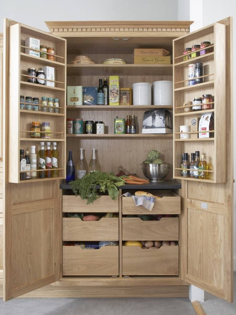 24 Beautiful And Functional Free Standing Kitchen Larder Units That Make Your Cooking Simple Freestanding Kitchen Kitchen Storage Units Kitchen Larder Units