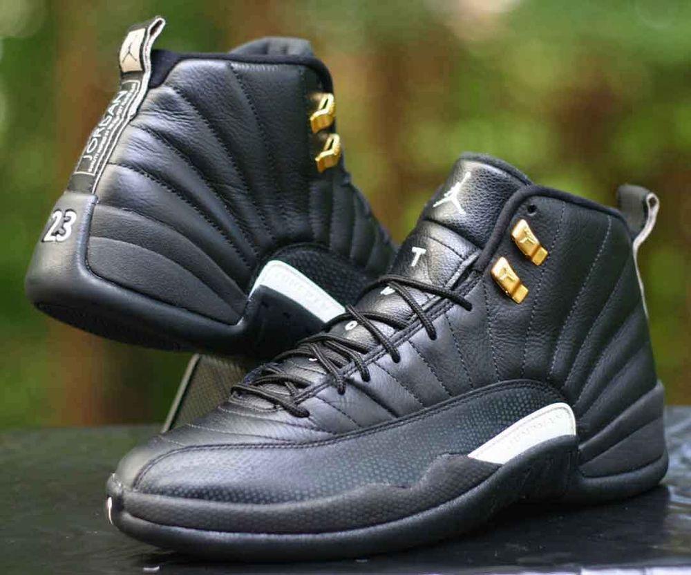 9a0c0afc54d4 Nike Air Jordan 12 Retro XII Master 12 s Black Gold White 130690-013 Size  9.5  Nike  BasketballShoes