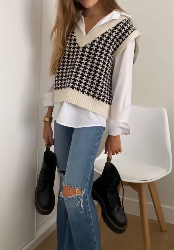 How to wear: the knit vest outfit inspiration – f a s h i o n