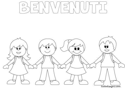 Bambini Che Si Tengono Per Mano Accoglienza Decoracion De Aulas