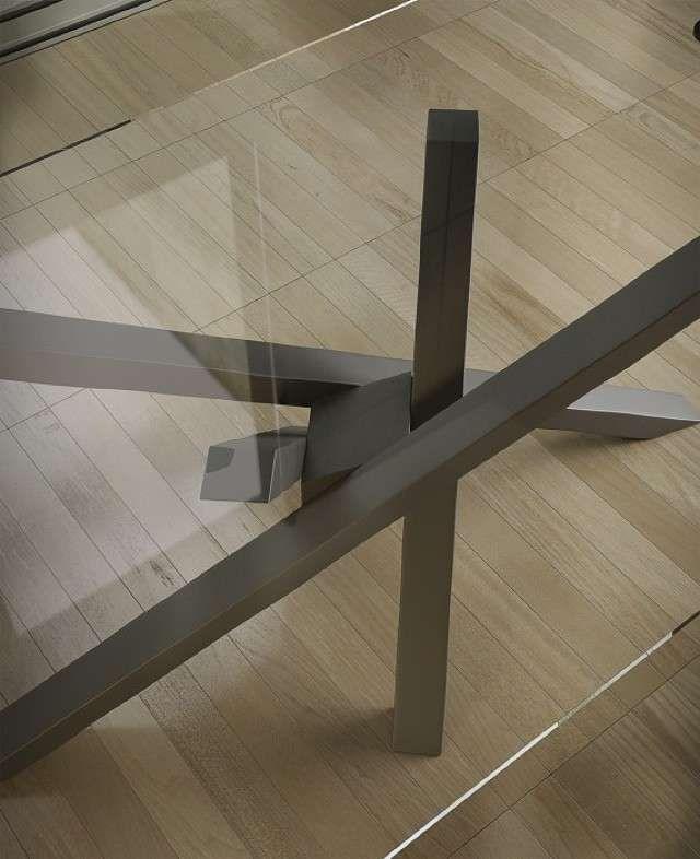 Riflessi tavolo Shangai - Particolare piano in cristallo | Tisch ...