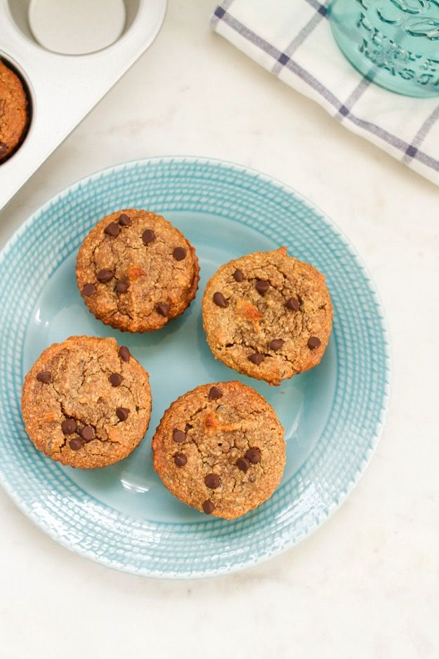 Chocolate chip muffins recipe with almond flour