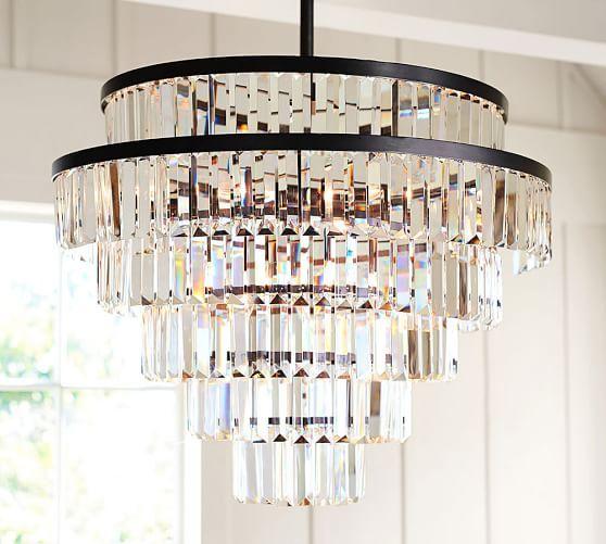 Gemma crystal tiered chandelier potterybarn