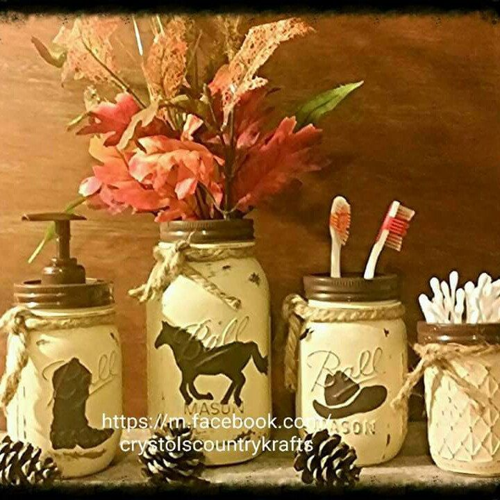 western bathroom set cowboy boot cowboy hat and horse cream and dark brown - Western Bathroom Accessories Rustic