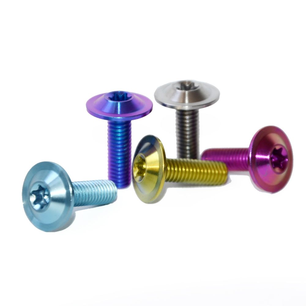 rainbow titanium bolt | titanium bolt and nut | Titanium bike, Bike