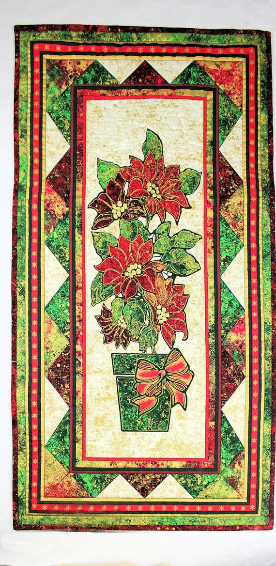 Scrappy Country Christmas Table Runner Quilt By