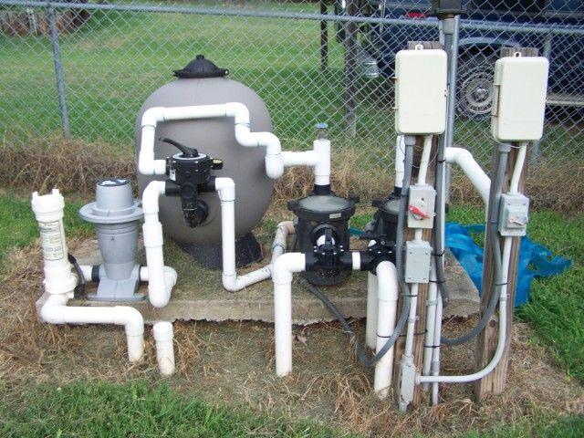Natural swimming pool designs pond pinterest pool for Set up pond filter system