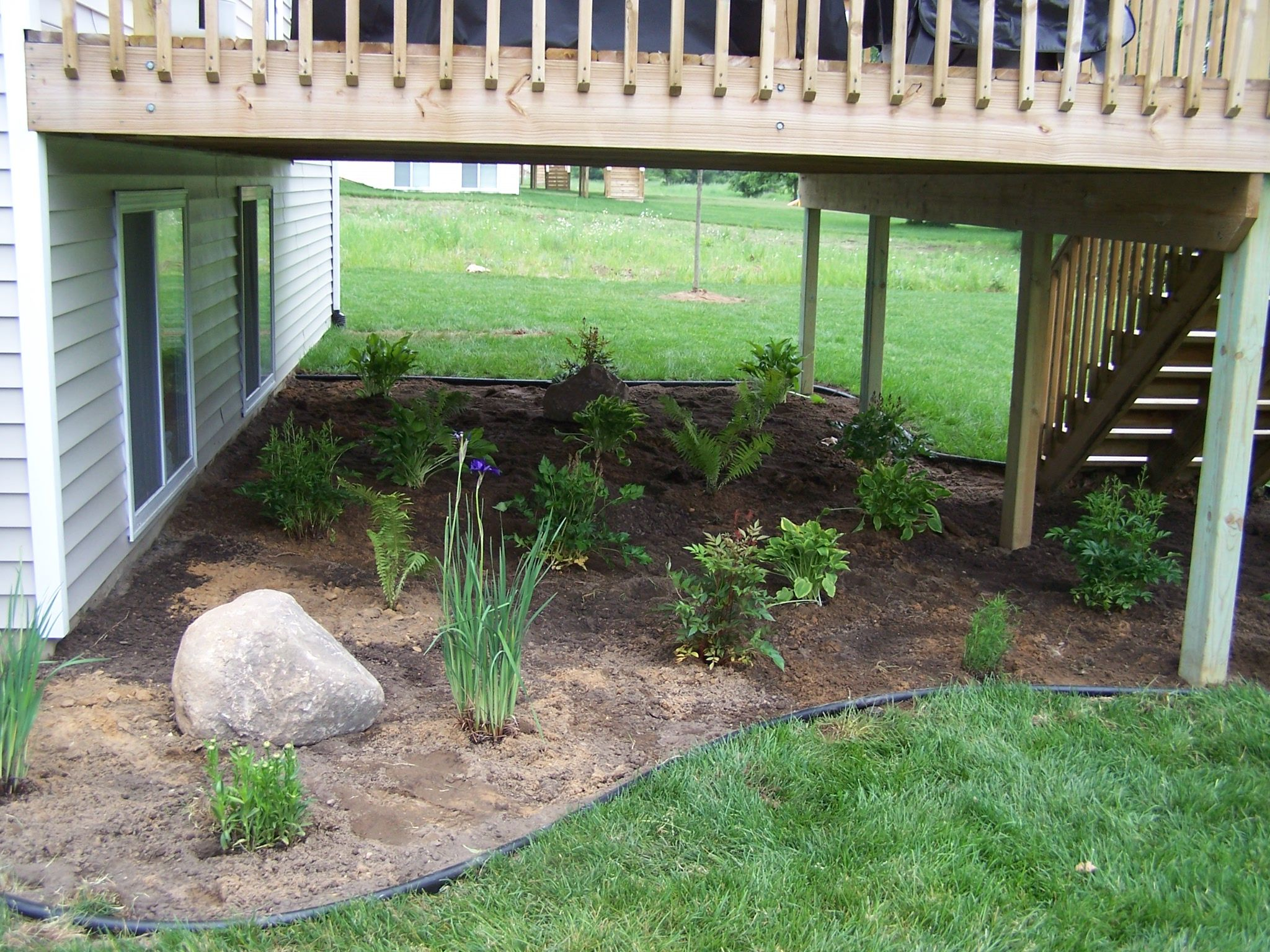 Full shade landscaping ideas for under a deck photo title under