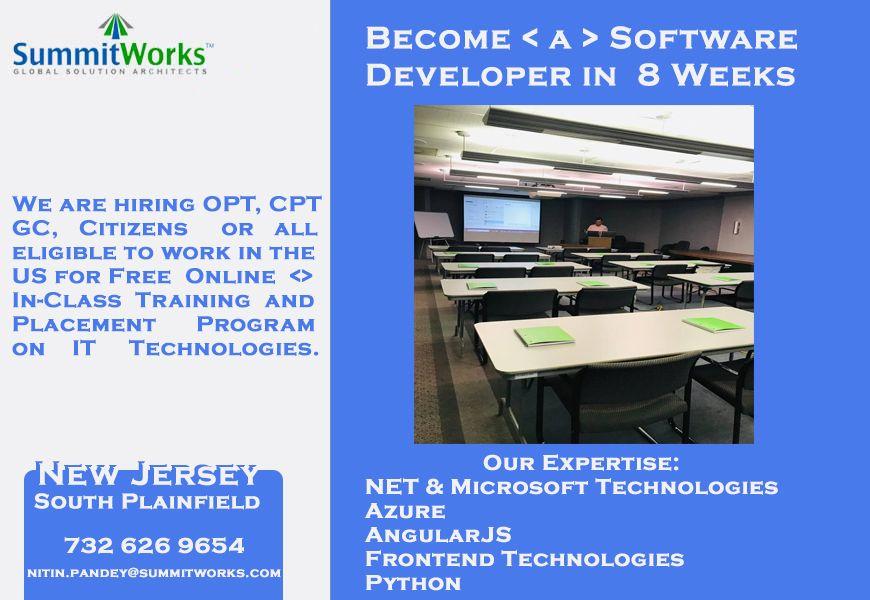 Entry Level Software Developer Free Training Get Paid For Training Software Development Free Training Solution Architect