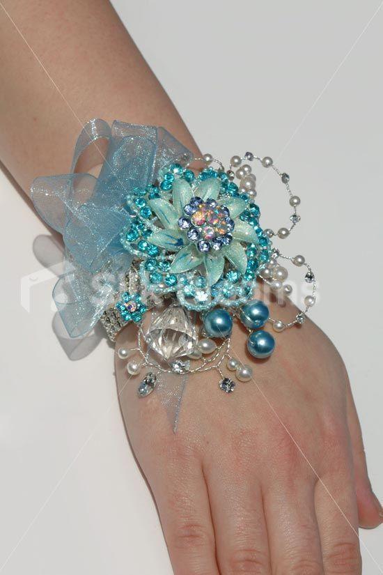 Silver Wedding Prom Accent Crystal Diamante Corsage Hair Clip