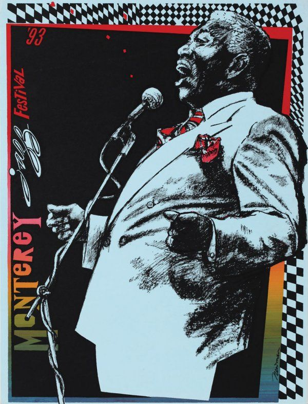 Collection of five Monterey Jazz Festival posters on | jazz
