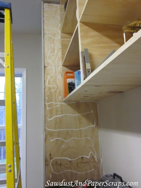 apply beadboard to a cabinet with...caulk.   Kitchen ...