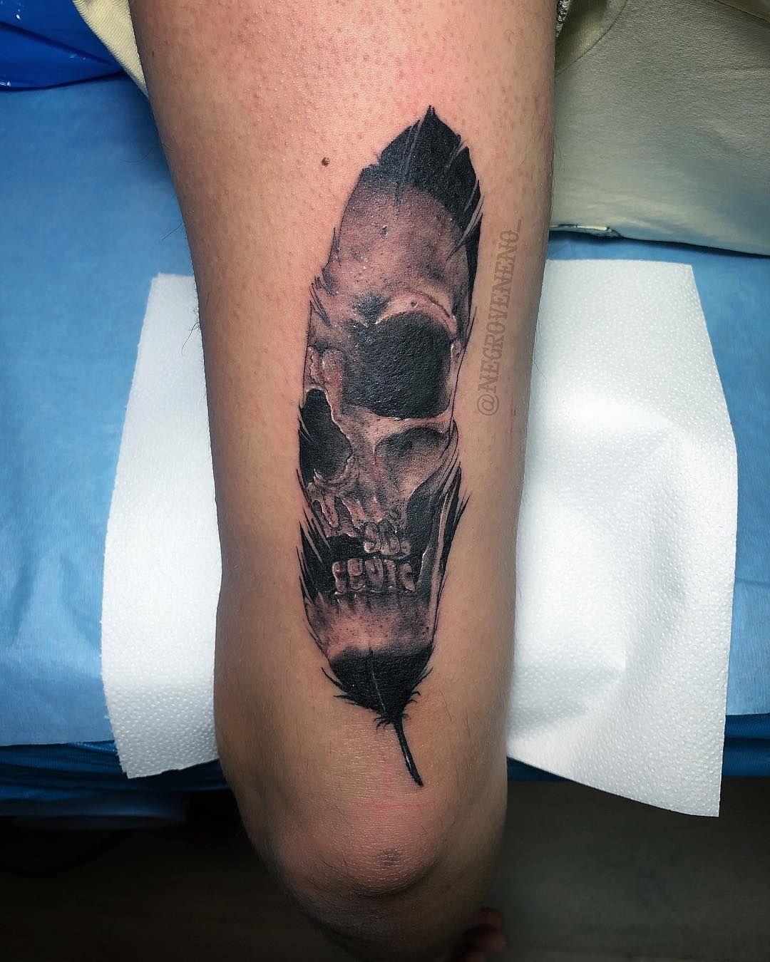 Skull Feather Tattoo | Tattoo Ideas and Inspiration | Watercolor tattoo  feather, Skull tattoo, Feather tattoos