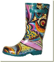 Jazzed up rain boots! Too cute!