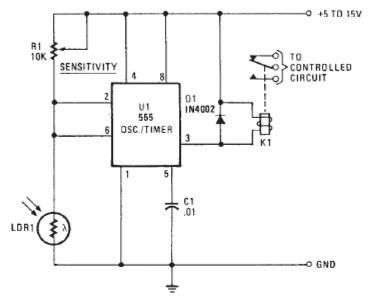 LDR Photo Alarm Circuit | Electronic Projects | Pinterest | Ldr and ...