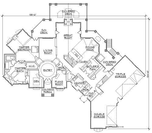 Professional house floor plans custom design homes for Custom luxury floor plans