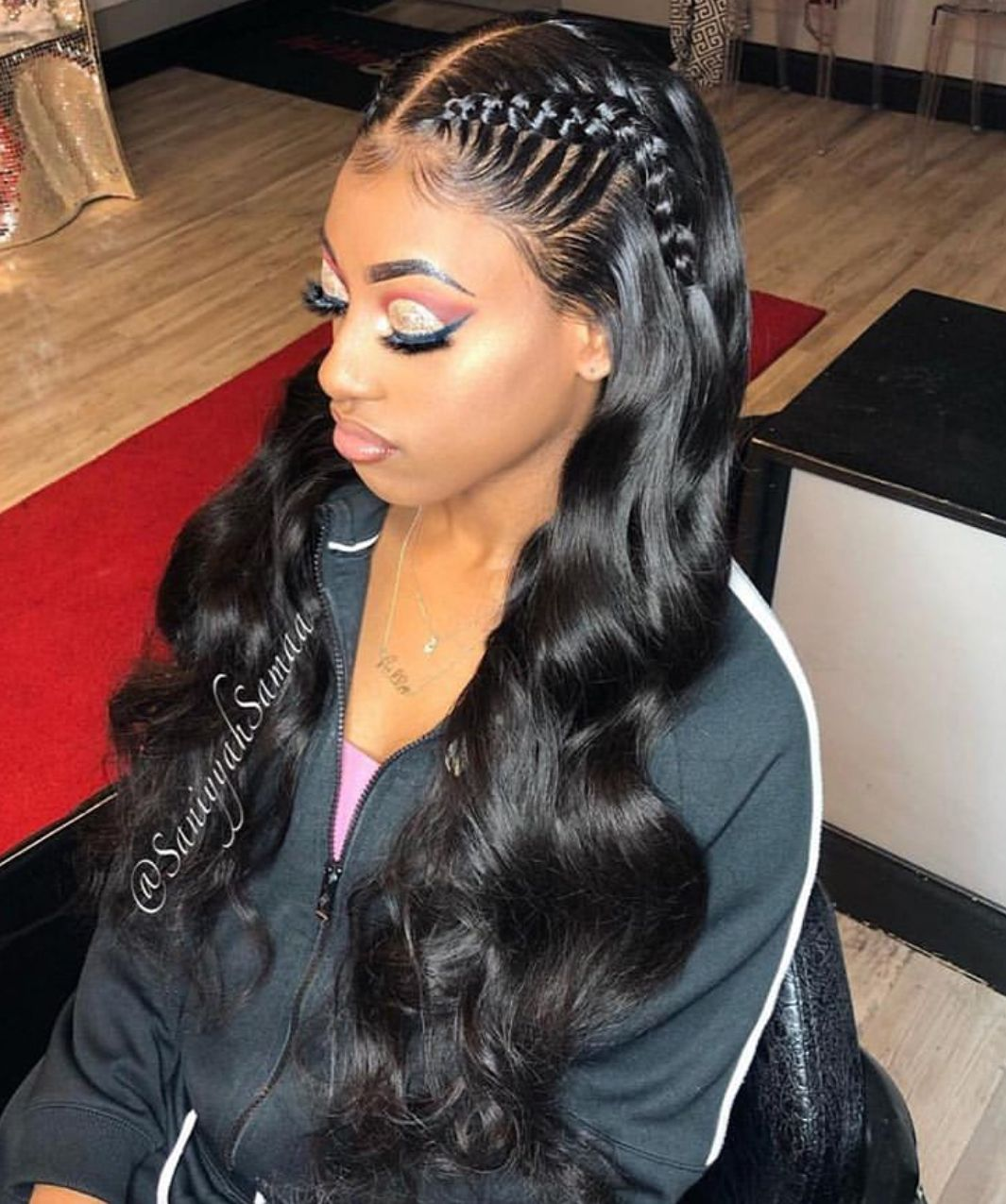 MAKEUP 💄   Black girl braided hairstyles, Two braid ...
