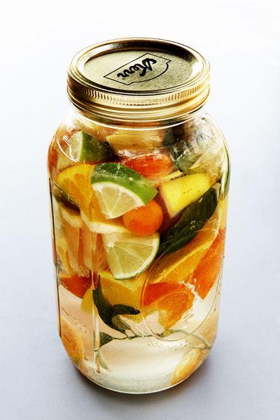 Infusión de citrus y vodka