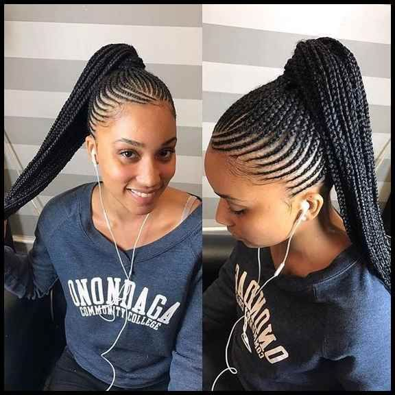 20 Most Inspired Cornrow Hairstyles For 2019 Cornrowhairstyles2019 Cornrowhairstyle Cornrow Hairstyles Braided Ponytail Hairstyles African Braids Hairstyles