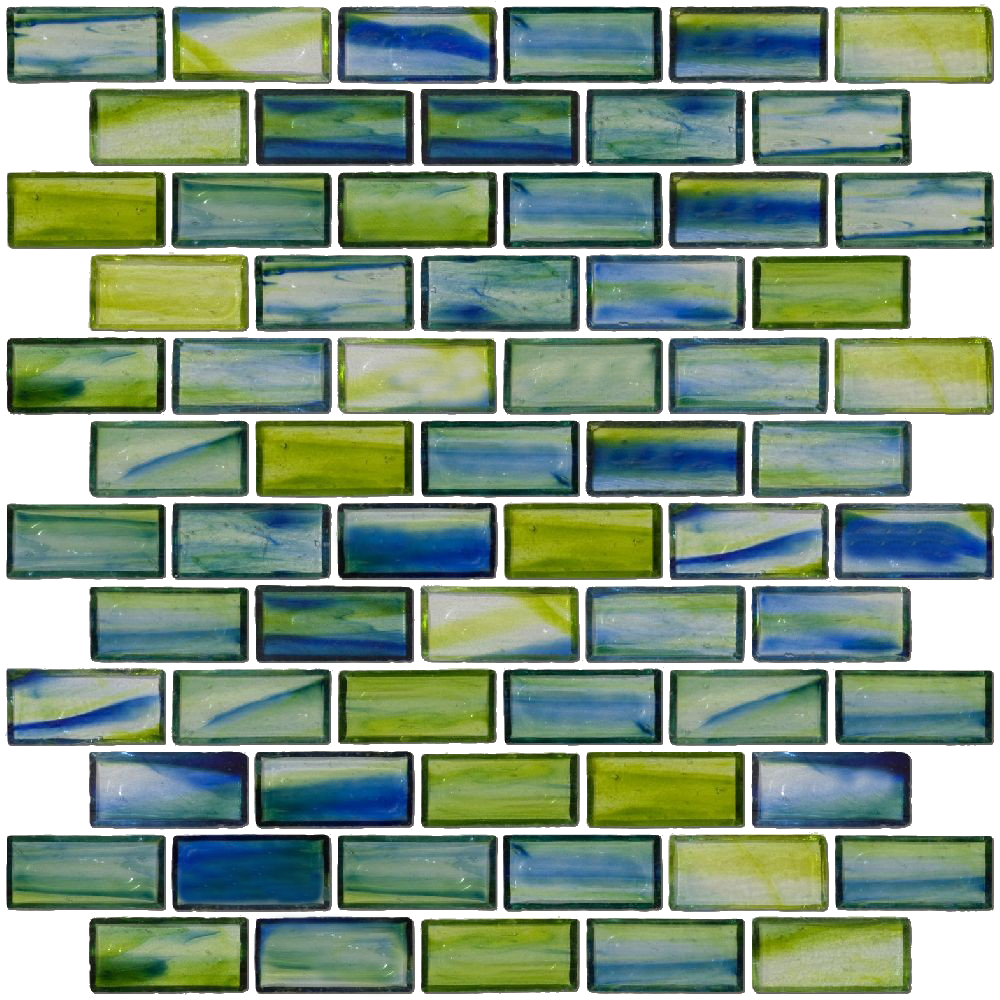 - Blue And Green 1 Inch Tile 1x2 Inch Transparent Blue And Green