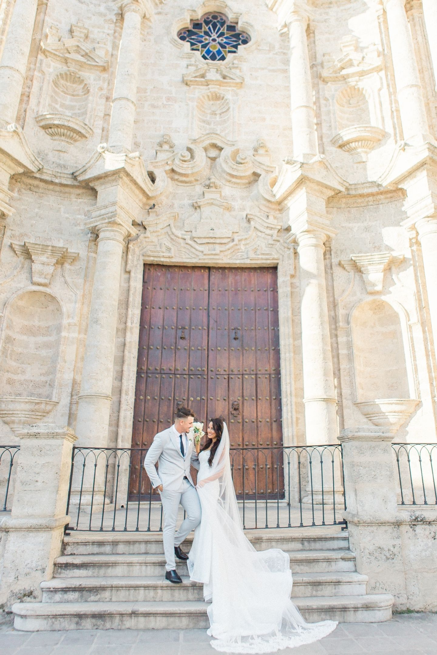 Havana Plaza Cathedral Wedding, Cuba Wedding, getting Married in ...