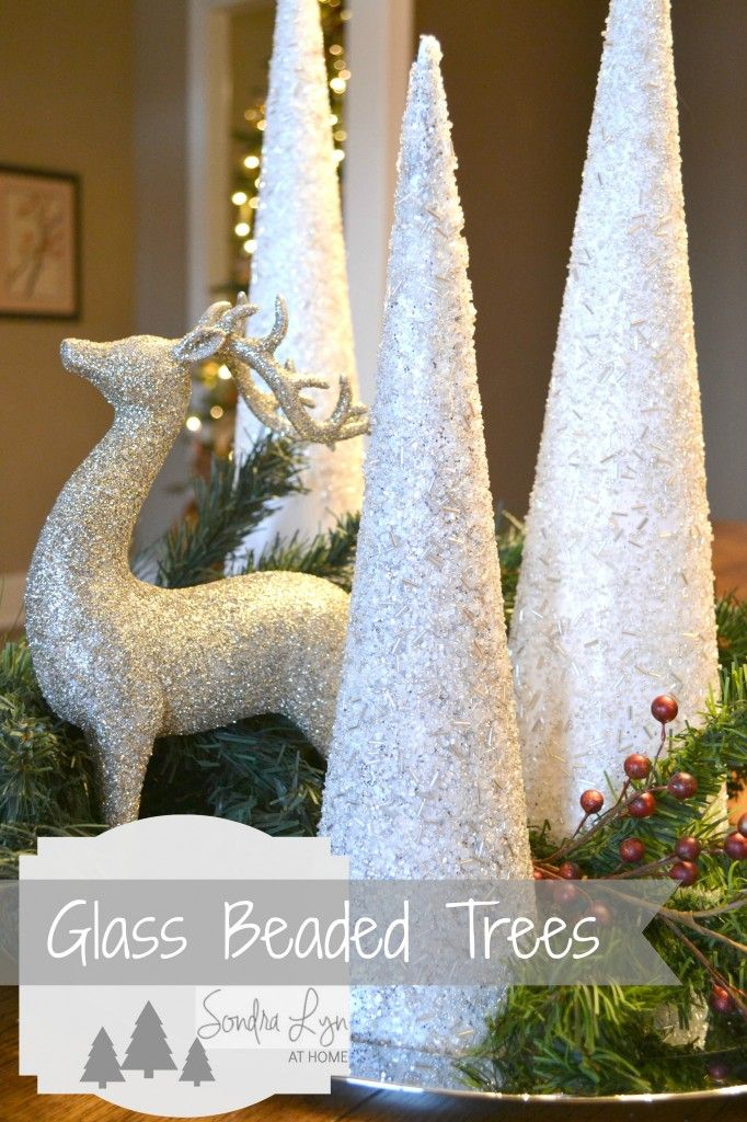 Glass Beaded Trees- Frontgate Hack   Christmas diy, Diy christmas tree, Christmas decorations