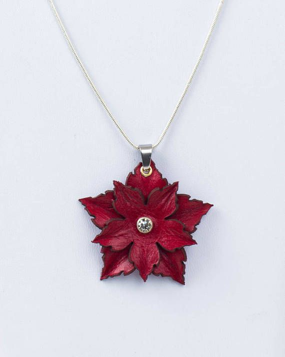 Photo of Leather Flower Pendant