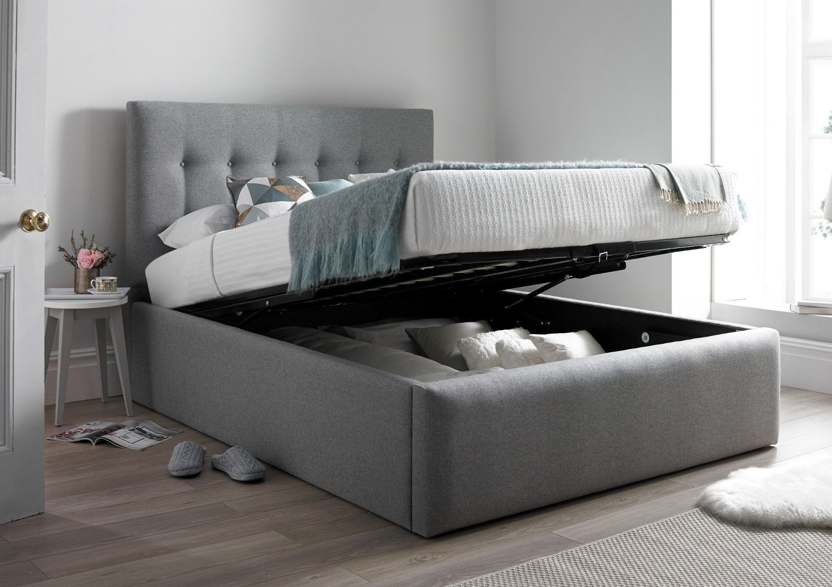 Best Pimlico Upholstered Ottoman Bed Frame Only In 2020 400 x 300