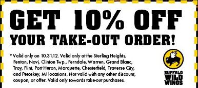 image about Buffalo Wild Wings Printable Coupons called Pin upon Buffalo Wild Wings Discount coupons