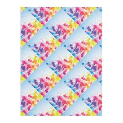 #Colourful Trendy3d Cubes Fleece Blanket - #birthday #gift #present #giftidea #idea #gifts