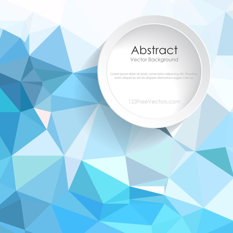 Abstract Light Blue Polygonal Background Design