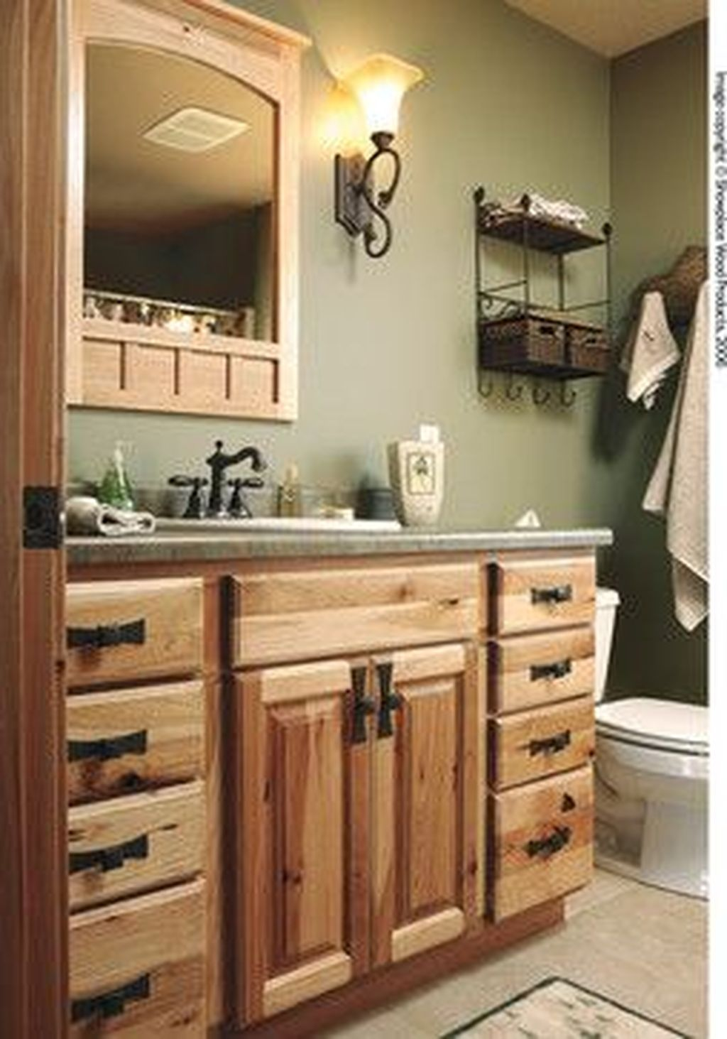 Cool 46 Incredible Bathroom Cabinet Paint Color Ideas More At Https Homystyle Com 2018 10 09 4 Green Bathroom Kitchen Cabinets In Bathroom Bathrooms Remodel