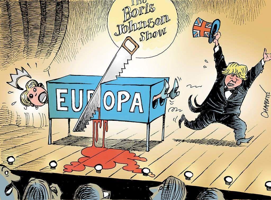 Chapatte 2016 07 04 Boris Johnson Show After Brexit