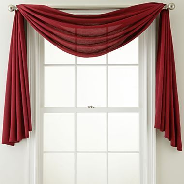 Window Treatment Ideas/scarves | Royal Velvet® Ally Window Scarf   Jcpenney