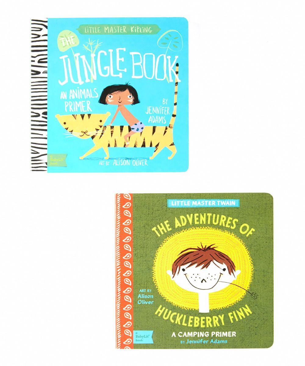 Jungle Book & Adventures of Huckleberry Finn Board Book Set