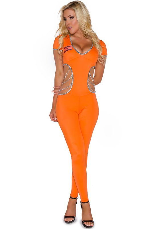 Locked Up Inmate Costume | Inmate costume, Robber costume and Costumes