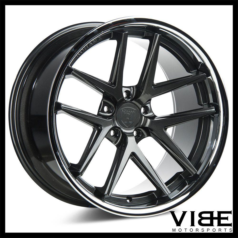 20 rohana rc9 gunmetal concave wheels rims fits nissan gt r