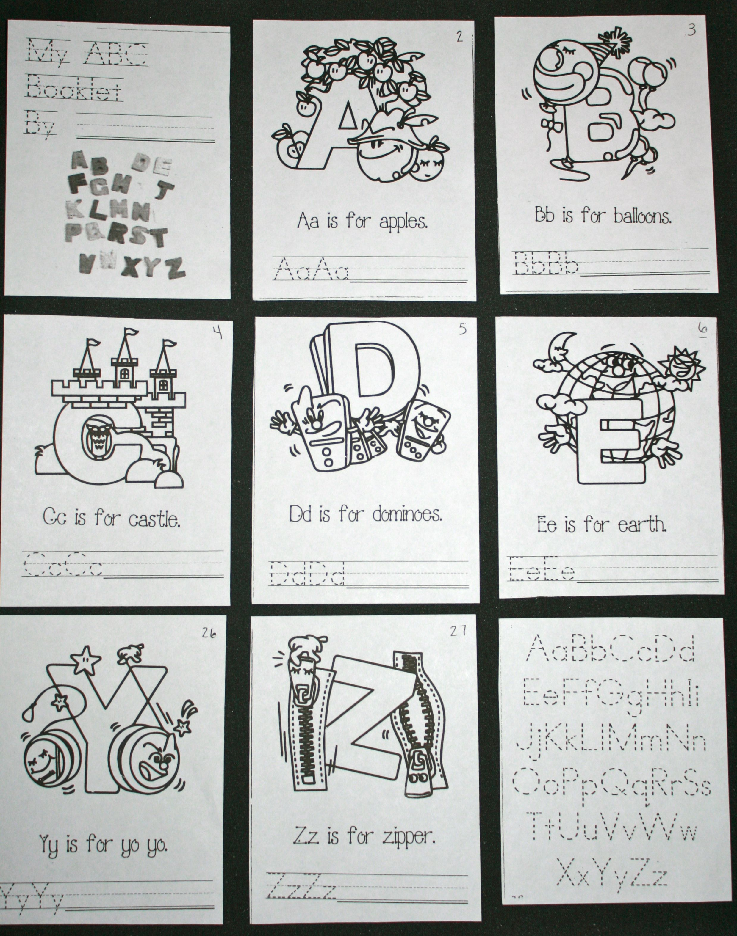 Another Back To School Idea Abc Easy Reader Booklets