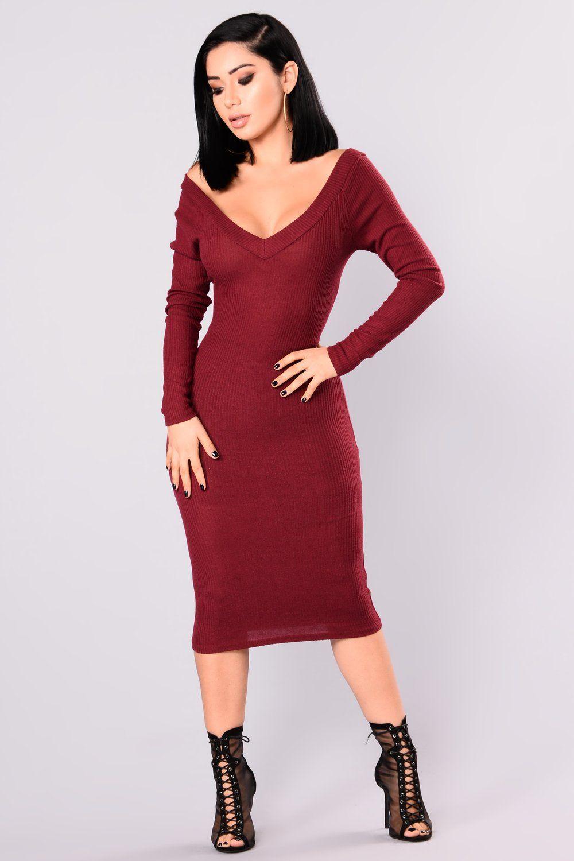 Stockholm Midi Dress Wine Dresses Fashion Nova Dress Midi Dress [ 1500 x 1000 Pixel ]
