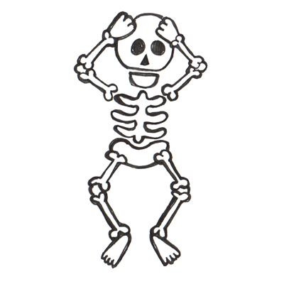 step finished skeletons how to draw cartoon skeletons with step by, Skeleton