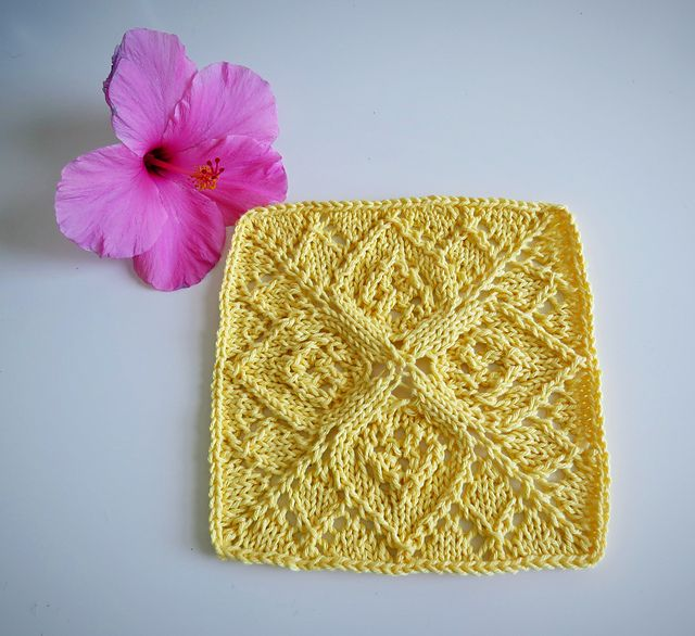Lotus Dishcloth Pattern By Amanda Flock Knit Flowers Knitting