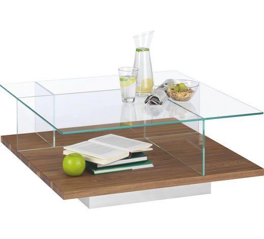 Quadratischer Couchtisch Aus Holz Und Glas Von Hülsta