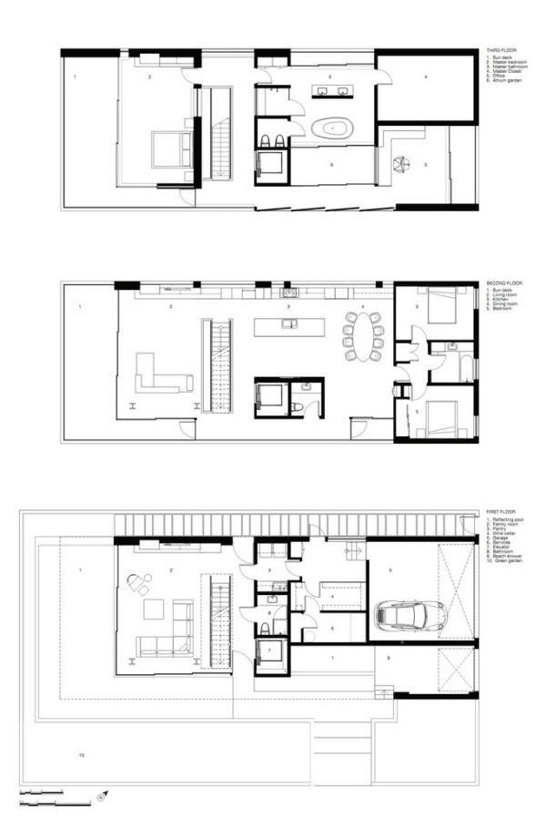 Minimalist Floor Plans flip flop housedan brunn - minimalist design 026 revolutioner