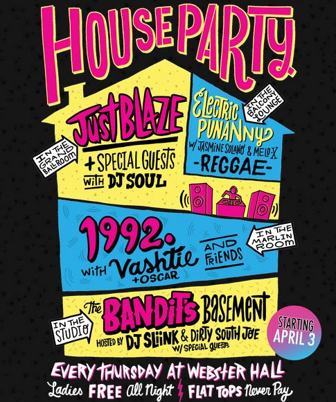 House Party Invite Quot Idea Quot 90 S Birthday Bash In 2019