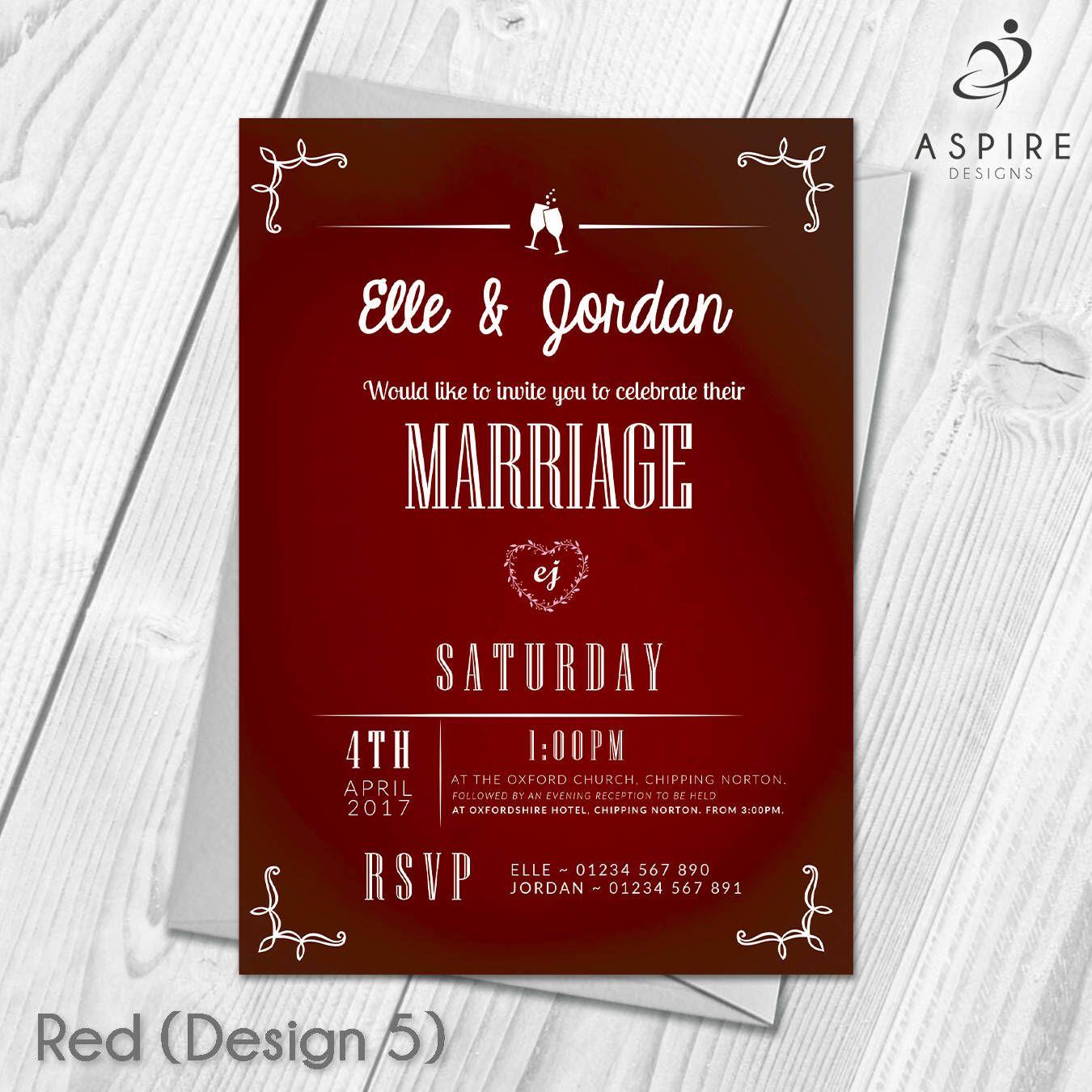 Personalised Wedding Invitations Marriage Invites | Digital ...