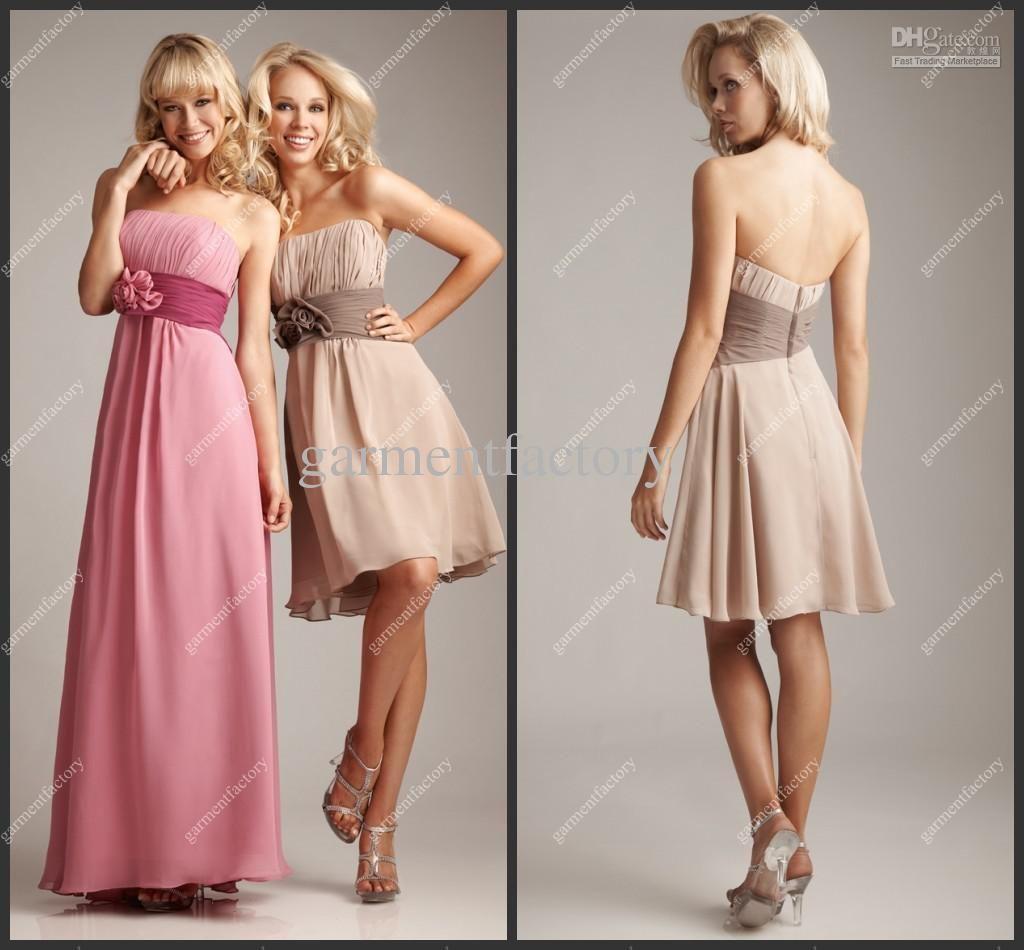 54af34c04d40 Beach Bridesmaid Dress Patterns 2013 Latest Strapless A Line Floor ...