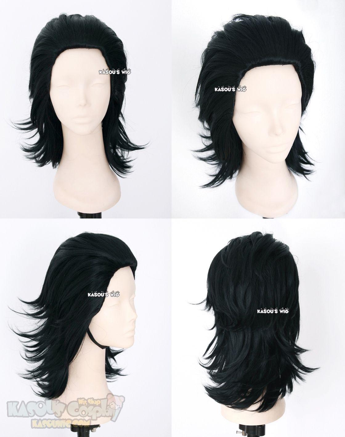 layers cosplay wig with widows peak Loki Laufeyson Avengers Thor version