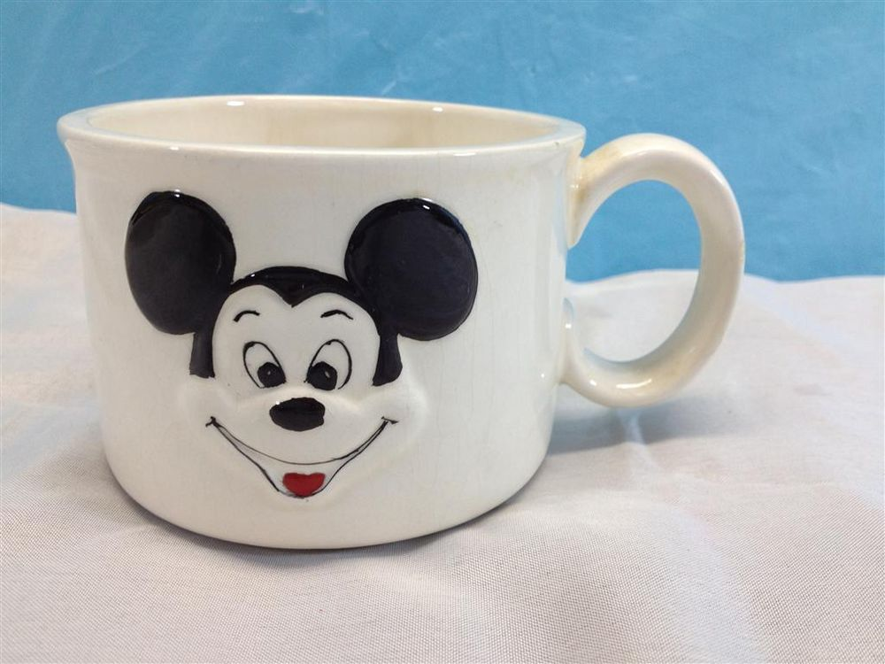 Vintage Porcelain Walt Disney Productions Mickey Mouse Coffee Cup
