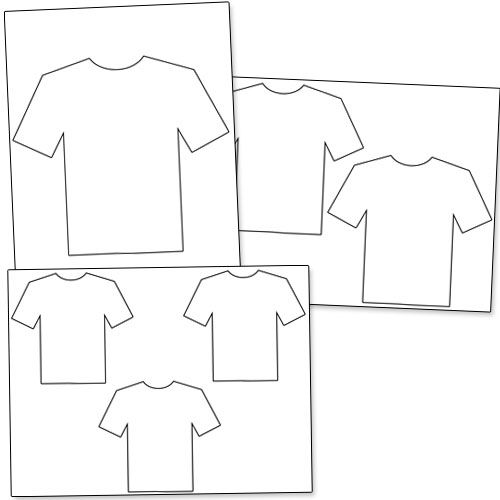 Printable T Shirt Outline From PrintableTreats.com